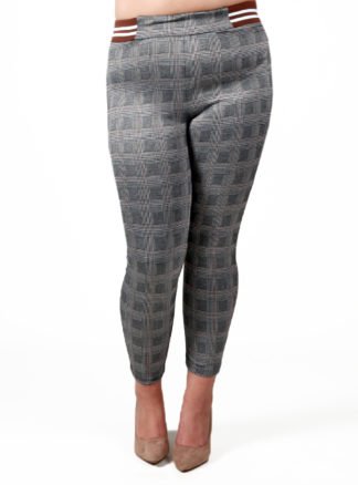 Pantalón cuadros con goma en cintura