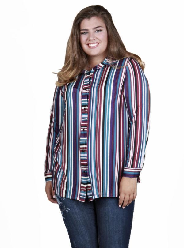 Camisa manga larga rayas verticales