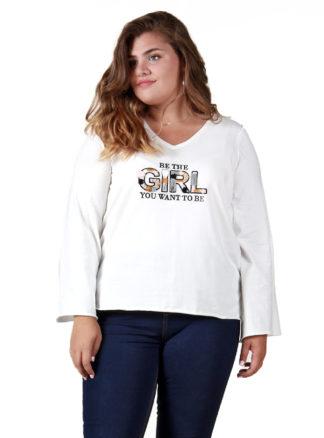 Camiseta manga larga pedrería